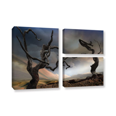 Brushstone Solitary Together 3-pc. Flag Gallery Wrapped Canvas Wall Art