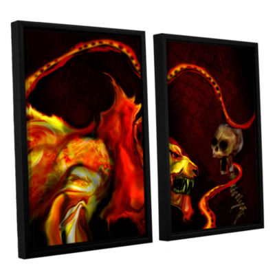 Brushstone Shadow Of The Beast 2-pc. Floater Framed Canvas Wall Art