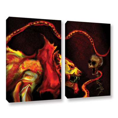 Brushstone Shadow Of The Beast 2-pc. Gallery Wrapped Canvas Wall Art