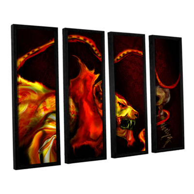 Brushstone Shadow Of The Beast 4-pc. Floater Framed Canvas Wall Art