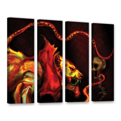 Brushstone Shadow Of The Beast 4-pc. Gallery Wrapped Canvas Wall Art