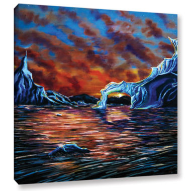 Brushstone Solitude (Iceberg) Gallery Wrapped Canvas Wall Art