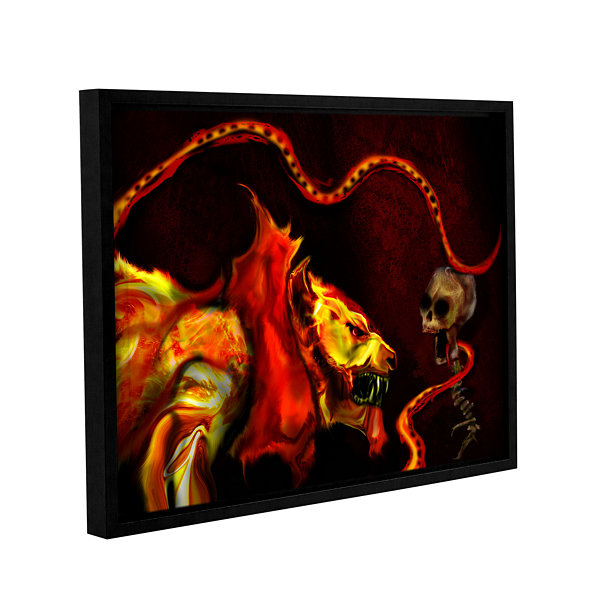 Brushstone Shadow Of The Beast Gallery Wrapped Floater-Framed Canvas Wall Art