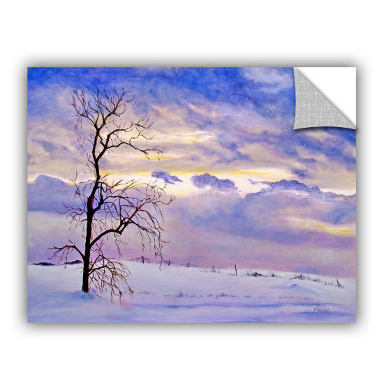 Brushstone Solitude (Snowy Landscape) Removable Wall Decal
