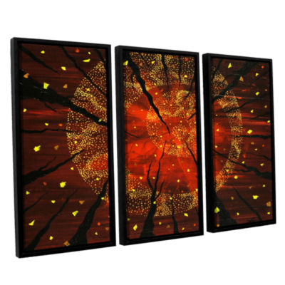Brushstone Shaman's Dream 3-pc. Floater Framed Canvas Wall Art