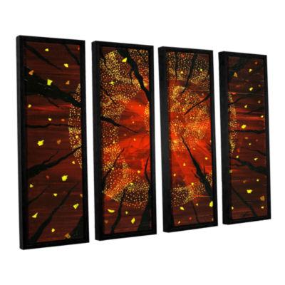 Brushstone Shaman's Dream 4-pc. Floater Framed Canvas Wall Art