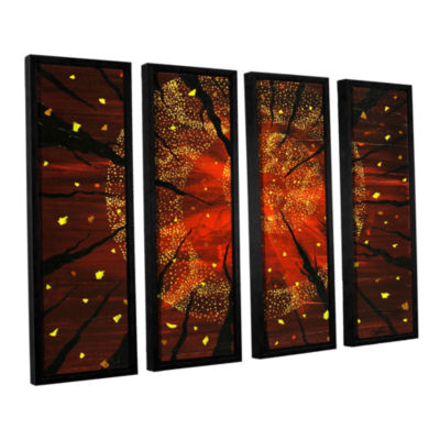 Brushstone Shaman's Dream 4-pc. Floater Framed Canvas Wall Art