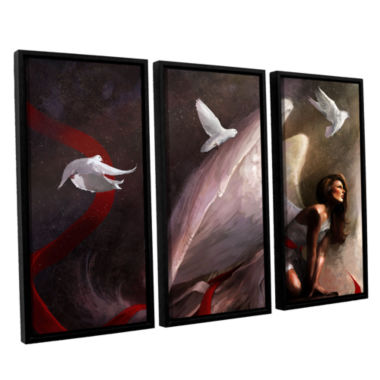 Brushstone Sometimes They Weep 3-pc. Floater Framed Canvas Wall Art
