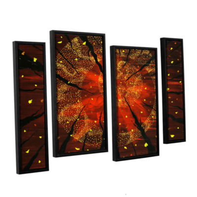 Brushstone Shaman's Dream 4-pc. Floater Framed Staggered Canvas Wall Art