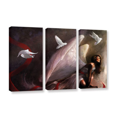 Brushstone Sometimes They Weep 3-pc. Gallery Wrapped Canvas Wall Art