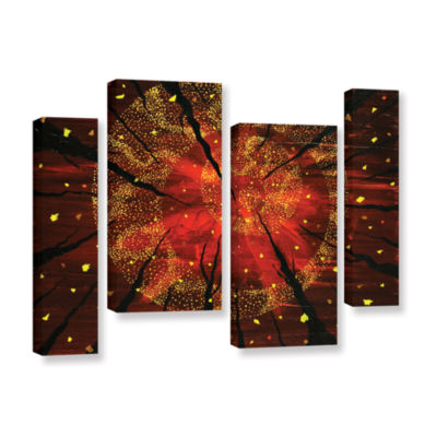 Brushstone Shaman's Dream 4-pc. Gallery Wrapped Staggered Canvas Wall Art