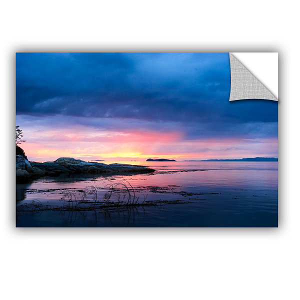 Brushstone Seascape Removable Wall Decal