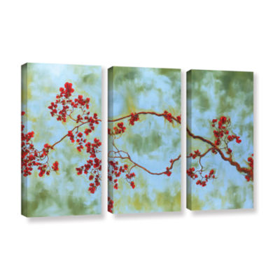 Brushstone St Clair Bloom 3-pc. Gallery Wrapped Canvas Wall Art