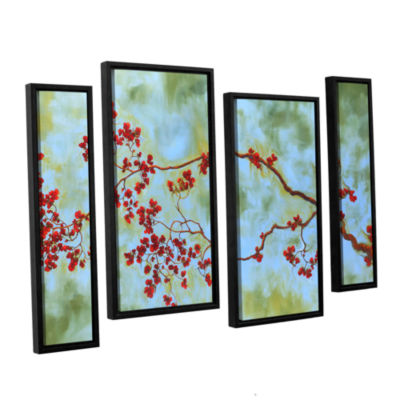 Brushstone St Clair Bloom 4-pc. Floater Framed Staggered Canvas Wall Art