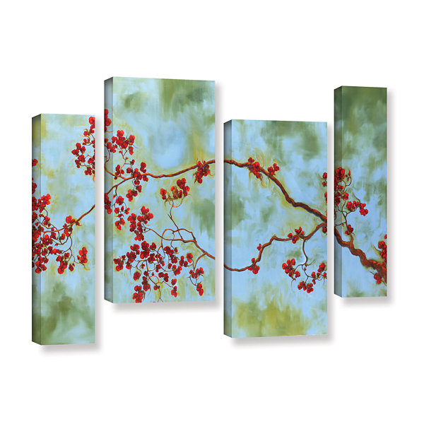 Brushstone St Clair Bloom 4-pc. Gallery Wrapped Staggered Canvas Wall Art