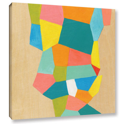 Brushstone Shapes At A Cellular Level 1 Gallery Wrapped Canvas Wall Art