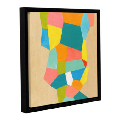 Brushstone Shapes At A Cellular Level 1 Gallery Wrapped Floater-Framed Canvas Wall Art