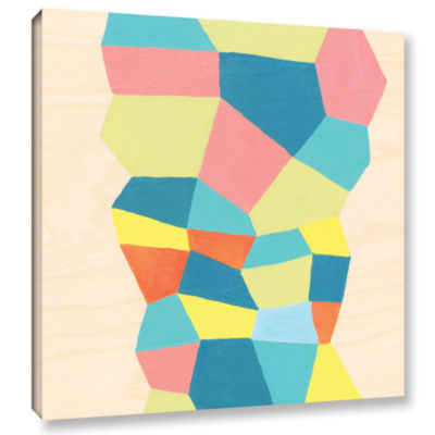 Brushstone Shapes At A Cellular Level 2 Gallery Wrapped Canvas Wall Art