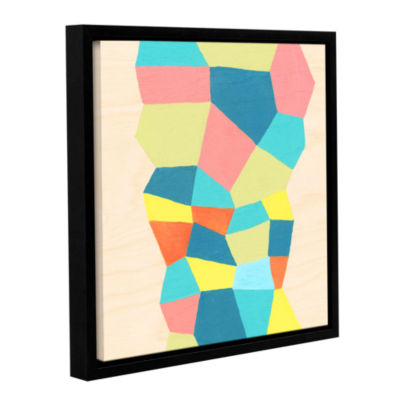 Brushstone Shapes At A Cellular Level 2 Gallery Wrapped Floater-Framed Canvas Wall Art