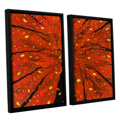 Brushstone Spellbound 2-pc. Floater Framed CanvasWall Art