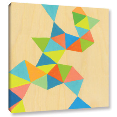 Brushstone Shapes At A Cellular Level 3 Gallery Wrapped Canvas Wall Art