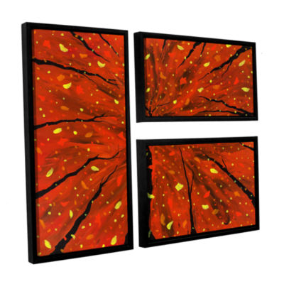 Brushstone Spellbound 3-pc. Flag Floater Framed Canvas Wall Art