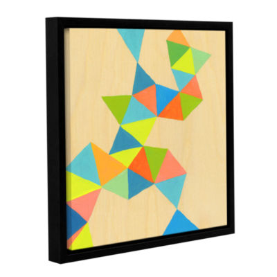 Brushstone Shapes At A Cellular Level 3 Gallery Wrapped Floater-Framed Canvas Wall Art