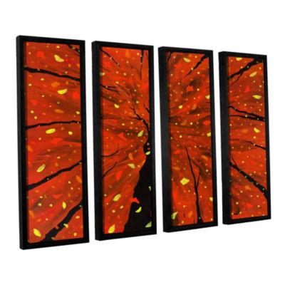 Brushstone Spellbound 4-pc. Floater Framed CanvasWall Art