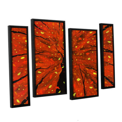 Brushstone Spellbound 4-pc. Floater Framed Staggered Canvas Wall Art