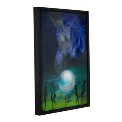 Brushstone Spherical Dance Gallery Wrapped Floater-Framed Canvas Wall Art