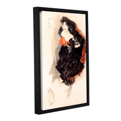 Brushstone Study of Judith Gallery Wrapped Floater-Framed Canvas Wall Art