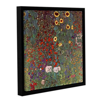 Brushstone Sunflower Gallery Wrapped Floater-Framed Canvas Wall Art