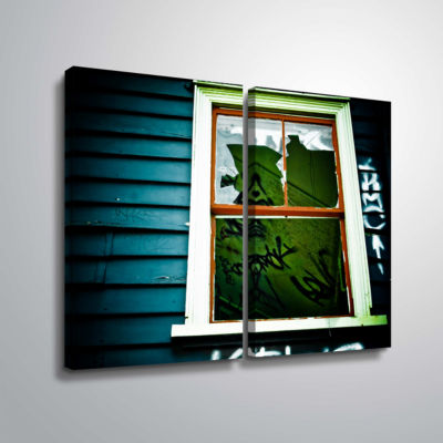 Brushstone Spooky House 1A 2-pc. Gallery Wrapped Canvas Wall Art