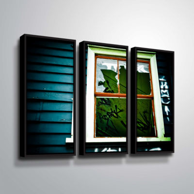Brushstone Spooky House 1A 3-pc. Floater Framed Canvas Wall Art