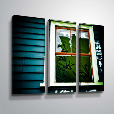 Brushstone Spooky House 1A 3-pc. Gallery Wrapped Canvas Wall Art