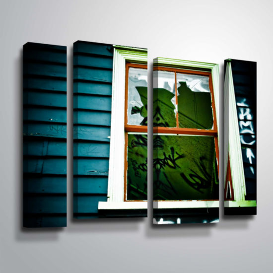 Brushstone Spooky House 1A 4-pc. Gallery Wrapped Staggered Canvas Wall Art
