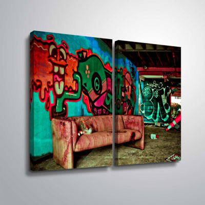 Brushstone Spooky House 5A 2-pc. Gallery Wrapped Canvas Wall Art