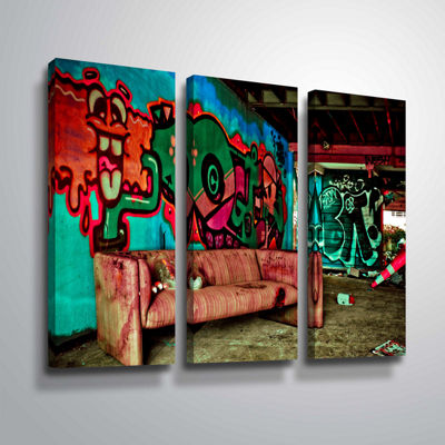 Brushstone Spooky House 5A 3-pc. Gallery Wrapped Canvas Wall Art