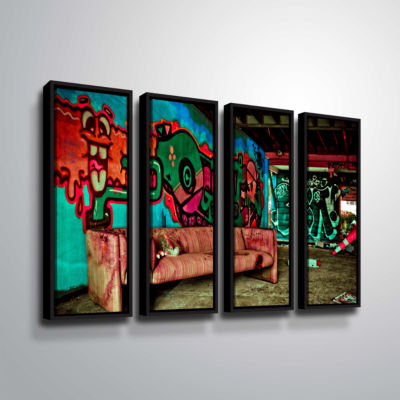 Brushstone Spooky House 5A 4-pc. Floater Framed Canvas Wall Art