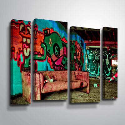 Brushstone Spooky House 5A 4-pc. Gallery Wrapped Staggered Canvas Wall Art