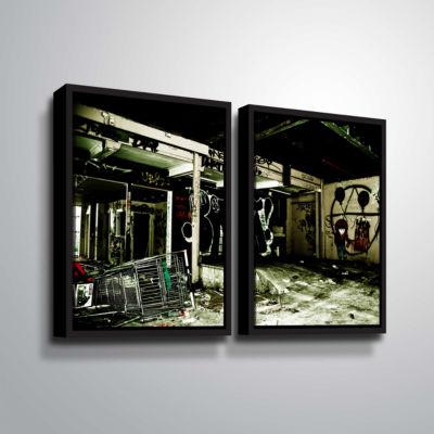 Brushstone Spooky House 9 2-pc. Floater Framed Canvas Wall Art