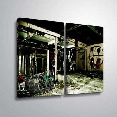 Brushstone Spooky House 9 2-pc. Gallery Wrapped Canvas Wall Art
