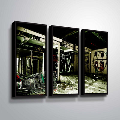 Brushstone Spooky House 9 3-pc. Floater Framed Canvas Wall Art