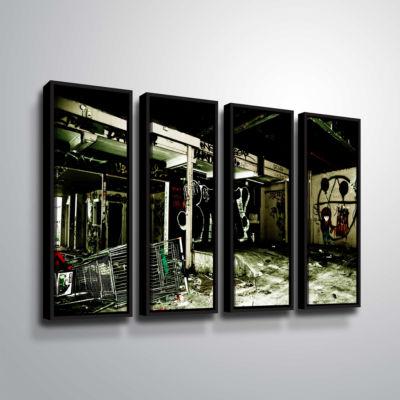 Brushstone Spooky House 9 4-pc. Floater Framed Canvas Wall Art
