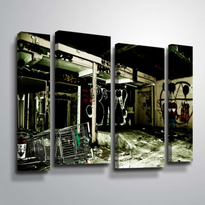 Brushstone Spooky House 9 4-pc. Gallery Wrapped Staggered Canvas Wall Art