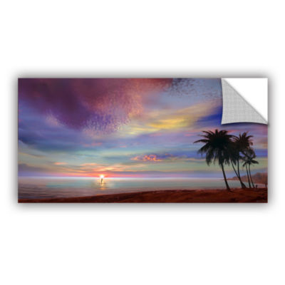 Brushstone Rowing At The Sunset Removable Wall Decal