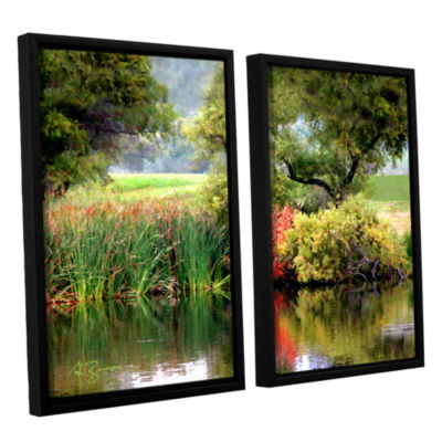 Brushstone Santee Lakes 2-pc. Floater Framed Canvas Wall Art