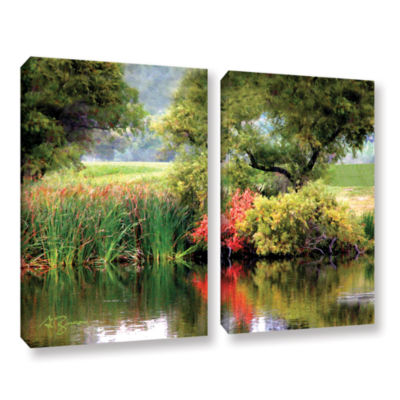Brushstone Santee Lakes 2-pc. Gallery Wrapped Canvas Wall Art