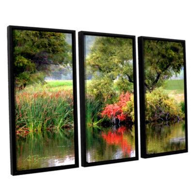 Brushstone Santee Lakes 3-pc. Floater Framed Canvas Wall Art