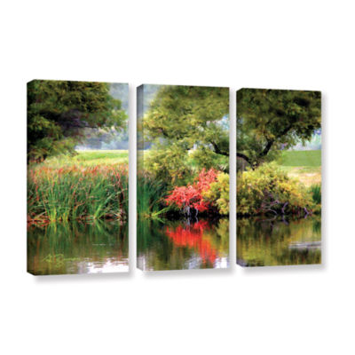 Brushstone Santee Lakes 3-pc. Gallery Wrapped Canvas Wall Art